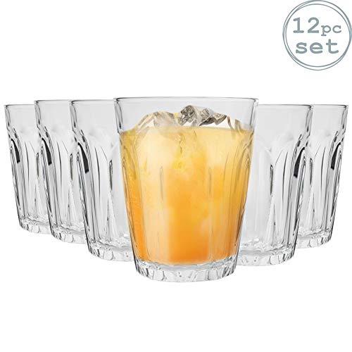 Duralex Provence - Juego de Vasos Bajos - para Agua, Zumo o cócteles - 250ml - Pack de 12