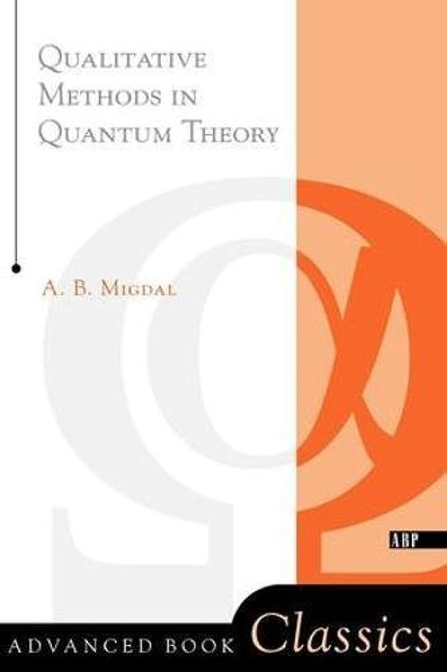 染料フリル流用するQualitative Methods In Quantum Theory (Advanced Books Classics)