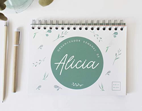 Organizador/planificador semanal personalizable