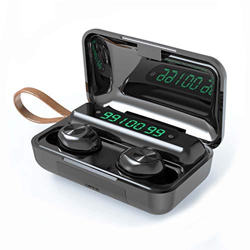 YX Compartimiento De Carga De Gran Capacidad Mini Invisible Auricular Inalámbrico TWS Auricular Bluetooth(Color:A)