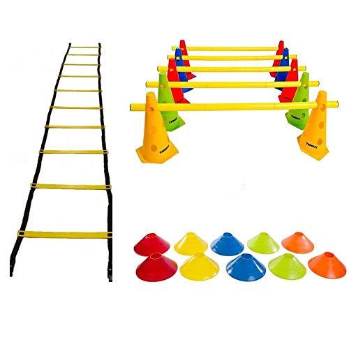 Kit Funcional Escada Agilidade Cones Barreira Chapéu Chinês Yangfit
