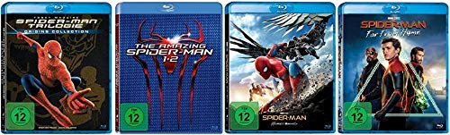 Spider-Man 1-3 + The Amazing Spider-Man 1+2 + Spider-Man Homecoming + Spider-Man Far From Home [Blu-ray Set]