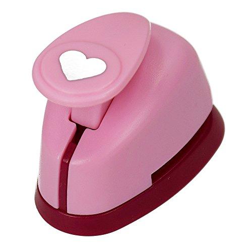 efco Stanzer XS, Herz Motivstanzer, Kern: Metall, pink, 5 x 3,5 x 4 cm