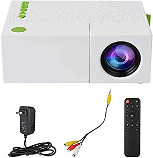 ZLSANVD LED Projector LED Projector Mini Handheld Portable Support 1080P Home Theater Support 5V-2A Mobile Power Supply wi...