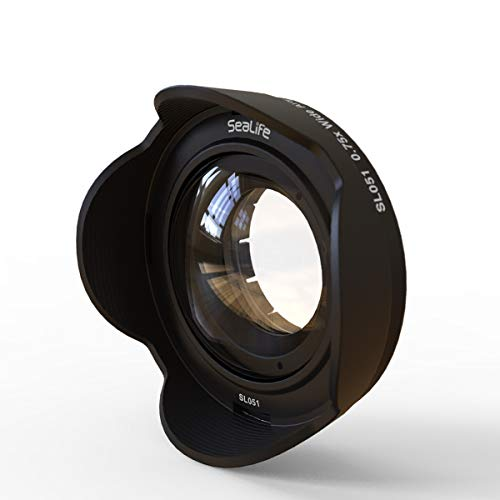 SeaLife SL051 0.75x Wide Angle Conversion Lens with 52mm DC Adapter Ring for DC2000 & DC1400 Digital Cameras