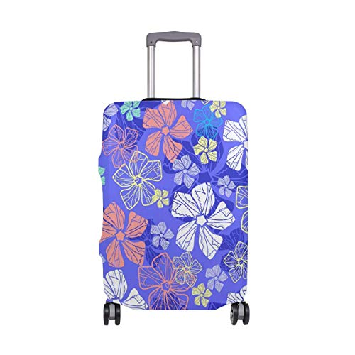 Luggage Cover Floral Seamless Pattern Suitcase Protector Baggage Fits 19-39 Inch,Size:XL