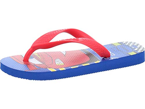 Havaianas Kids Cars, Infradito Unisex Bambini, Multicolore (Blue Star/Ruby Red 1111), 31/32 EU