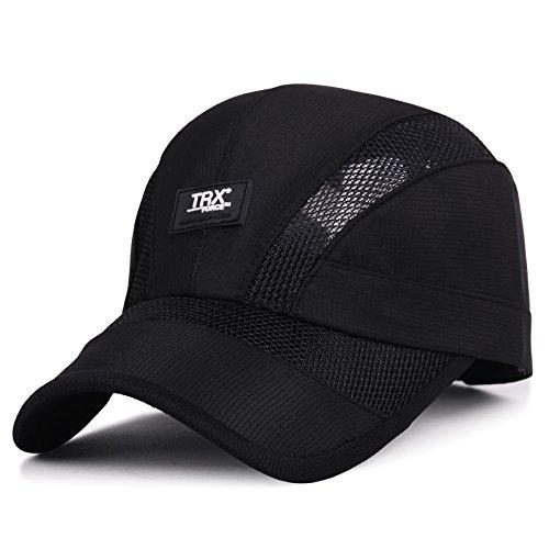 XBR Chapeau Summer Parasol Hat à l'extérieur de la Mode pour Hommes sur la pac Casquette de Base - Ball Black