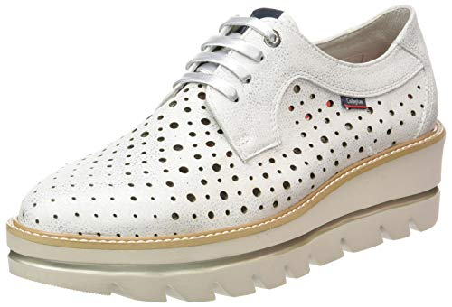 Callaghan Party Line, Zapatos de Cordones Derby para Mujer, Plateado (Plata 1), 40 EU