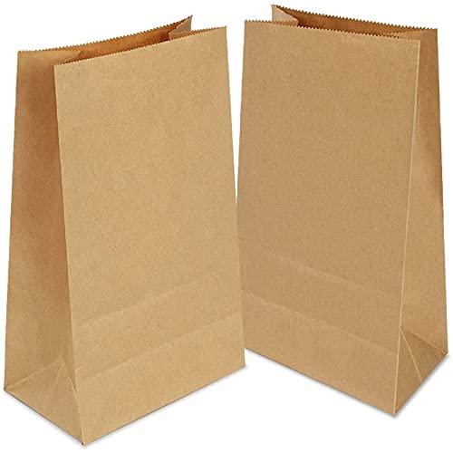 Gaoyong 100 PZ Sacchetti di Carta con Fondo 70 g./m2,Ideali per Confezionare Pane, Pizze, Dolci, Sandwich,Caramelle ed Riso e Semi di Fiori Articoli da Forno