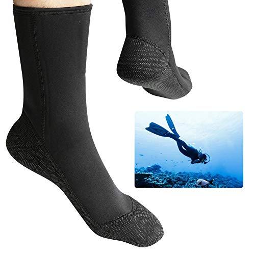 Rodipu Calcetines de Neopreno Anti-filtración, Ligeros Profesionales, Calcetines para Deportes acuáticos, Transpirables para Deportes acuáticos de Buceo(L)