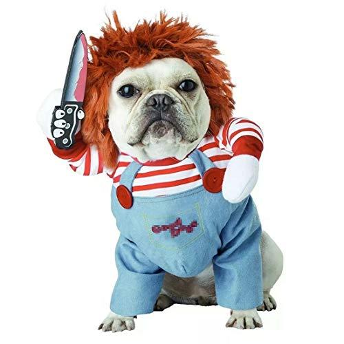 Vivi Bear Traje de Perro Novedad Funny Pets Party Cosplay Apparel Ropa para Mascotas Adecuado para Cachorros Grandes y medianos.(L)