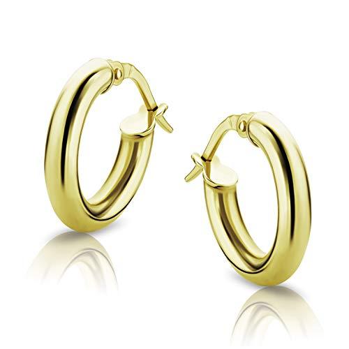 Orovi Damen Ohrringe Gelbgold Creolen 18 Karat (750) Gold