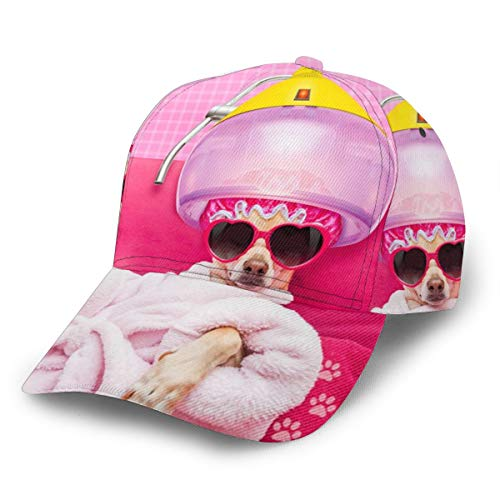 Gorra de béisbol Chihuahua perro relajante tumbado Wellness Spa Cachorro Snapback Sombreros...