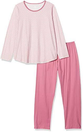 CALIDA Damen Cosy Jersey Fun Zweiteiliger Schlafanzug, Rosa (Cassis 293), 48 (Herstellergröße:L)