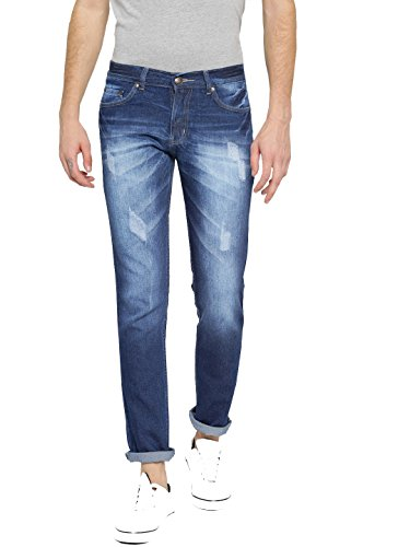 AMERICAN CREW Men's Regular Fit Jeans (ACJN414-36_Dark Blue_36)