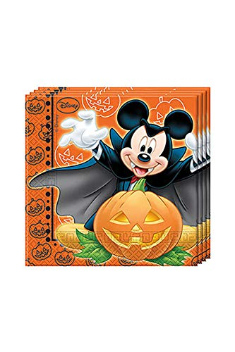 Disney Mickey Mouse Halloween, Lot de 20 Serviettes en Papier