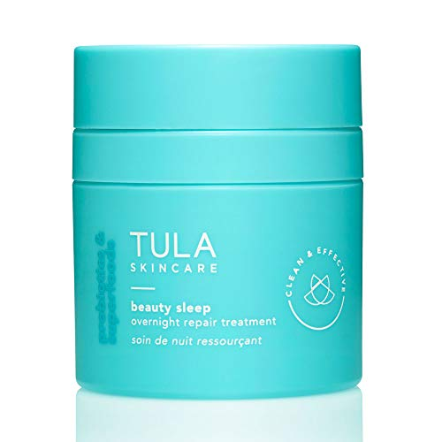 TULA Skin Care Beauty Sleep Overnight Repair Treatment | Ageless is the New Anti-Aging, Night Cream, Contains Natural Peptides, AHAs, Retinol, Vitamin C to Reduce the Appearance of Lines and Dull Tone| 1.67 oz.