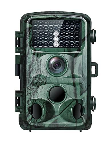 TOGURAD 4K 20MP Wildkamera Fotofalle mit Infrarot Nachtsicht Bewegungsmelder bis zu 65 Fuß 0,2s Reaktionszeit Jagdkamera mit IR LEDs IP66 Wasserdicht für Jagd und Überwachung von Wildtieren