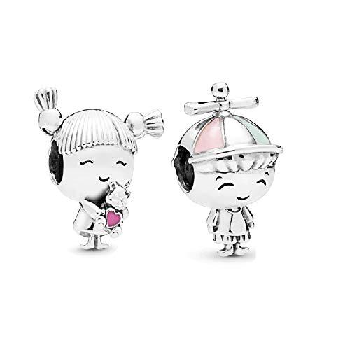 Married Couple - Boy Teenager - Girl Teenager - Nan Grandma - Little Girl Jewellery - Little Boy Charms - Sterling Silver 925 Bracelet Jewellery For Women girls bracelet - Little Boy Girl Two Charms