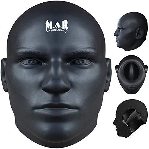 MAR International Human Head Striker Boxen MMA BJJ Techinal Boxsack Strike Stanz Face trainieren Focus Pad Pads Jab Pad Echthaar Schnuller Stanz Pad Martial Arts