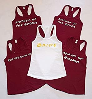 Friends Bridal Party Tank Tops - Bride, Bridesmaid, Maid of Honor - Bachelorette Party Shirts, Bridal Party Tank Tops, Bride Tank Bridal Party shirts - Bridal party tanks