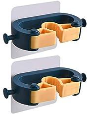 Hemoton 2 adet Paspas Duvar Kancası Tutucu Delinmez Paspas Süpürge Duvara Monte Askı Paspas Depolama Düzenleyici Ev için Mavi