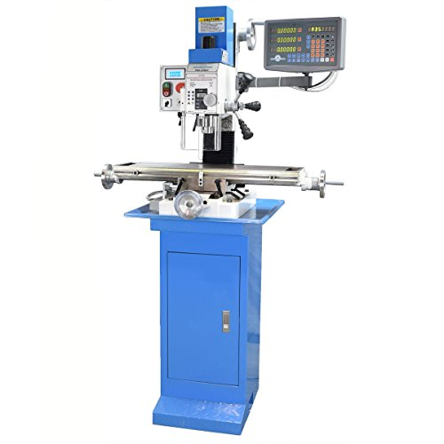 PM-25MV Milling Machine with 3 Axis DRO installed (With Stand)