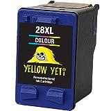 Yellow Yeti Remanufacturado 28 Cartucho de Tinta Color para HP Deskjet 3320 3325 3420 3520 3535 3550 3620 3650 5650 5850 Fax 1240 PSC 1110 1205 1210 1215 1315 1317 Officejet 4215