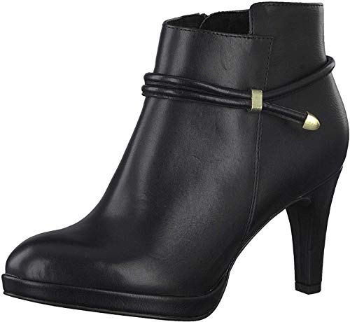 MARCO TOZZI Damen 2-2-25339-25 Leder Stiefelette, Black Antic, 40 EU