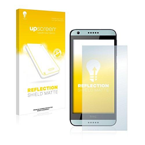 upscreen Entspiegelungs-Schutzfolie kompatibel mit HTC Desire 650 – Anti-Reflex Bildschirmschutz-Folie Matt