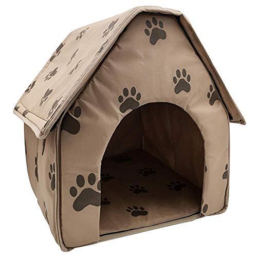 Everpert Tragbares Hundehütte für den Winter, warm, für Katzen, Welpen, Hundehütte, für drinnen und draußen, hält Ihre Haustiere sicher