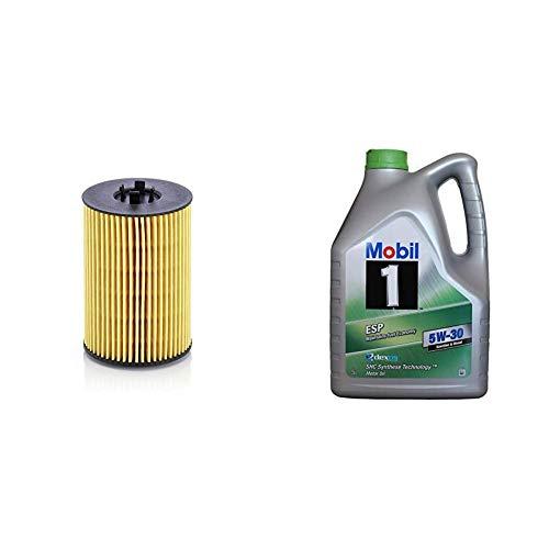 Original MANN-FILTER Ölfilter HU 7020 z - Ölfilter Satz mit Dichtung/Dichtungssatz - Für PKW + Mobil Motorenöl 1 ESP 5W-30, 5L