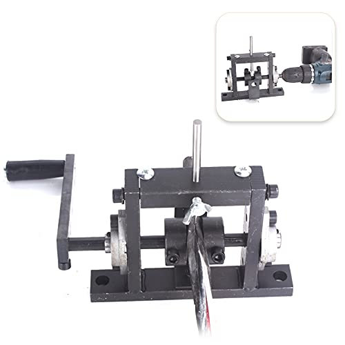 JUNYYANG Saldatrice Drill Elettrico Manuale Dual-Screpping Wire Stripping Machine Draft Cable Peeling Machines Stripper per 1-30mm (Color : Double Cutter)