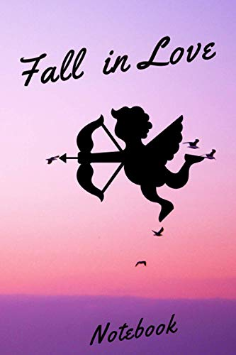 Fall in love Notebook. Valentine's Day Romantic Book - 6 x 9 in 120 Pages notebook Valentine's Day Gift for people you love: Happy Valentines day Wife, husband, girlfriend, boyfriend, mom or dad