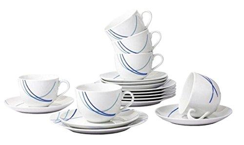 Retsch Arzberg Kaffeeservice 'Breeze', Porzellan, rund, dekoriert, 18-teilig (1 Set)