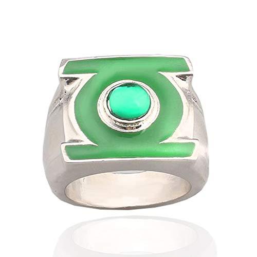XINYIU Green Lantern Thanos Anneaux Pendentif Hommes Infinity Gauntlet Bague Femmes Cristal Bijoux Anneaux De Mariage