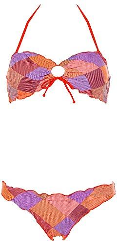 Shiwi® Neckholder Bandeau Bikini Orange 34