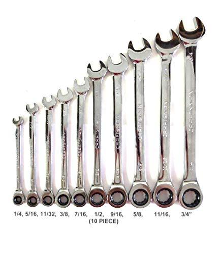 Gearwrench Ratcheting Wrench Set cliquet ensembles métriques Clés Outils 16 Pièces