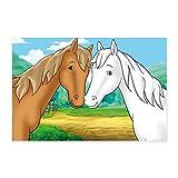 Spreadshirt Bibi und Tina Pferde Amadeus und Sabrina Poster