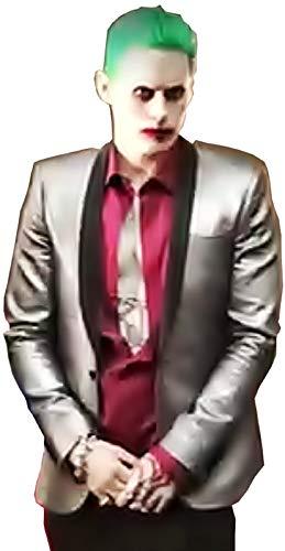 Maat xxl - volledig kostuum - jas - shirt - broek - stropdas - carnaval pruik - halloween - man joker suicide batman
