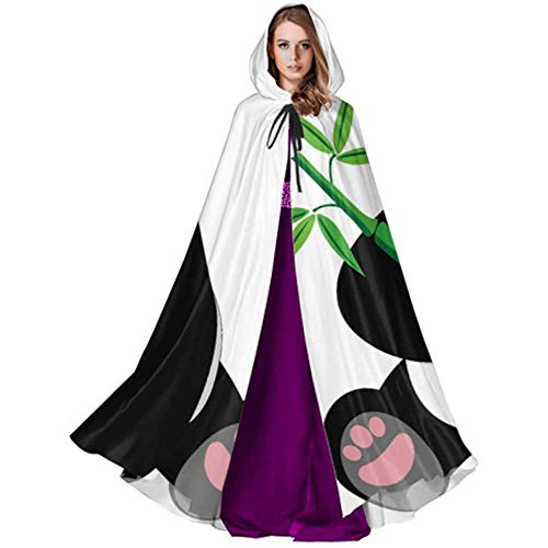 Zome Lag Duivel Heks Wizard Mantel, Halloween Cosplay Kostuum, Party Wizard Cape, Mantel met Hood,Chinese Lucky Giant Panda volwassen mantel kostuum Halloween Mantel Cape