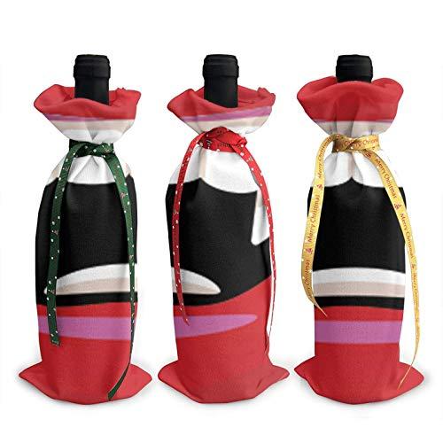 Vampir Mund gedruckt Weinflasche Abdeckung Dekoration Abdeckung Taschen, für Weihnachten Weinprobe Partyzubehör