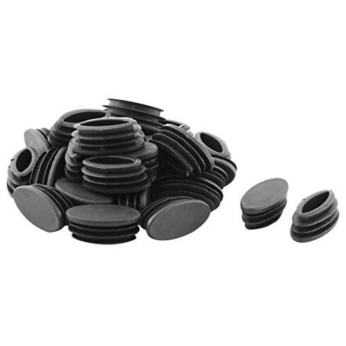 Fiween Pies para sillas de Mesa de plástico Tubo Oval inserte la Tapa 20 x 40 mm (30p)
