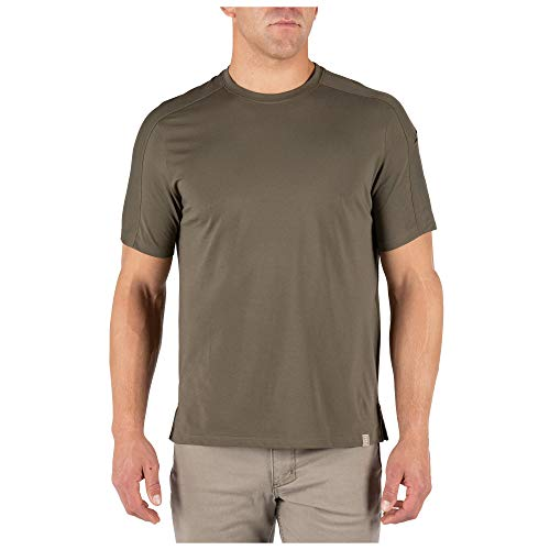 5.11 Tactical Men's Delta Short Sleeve Crew T-Shirt, Crew Neck, Style 40169, Ranger Green, XX-Large