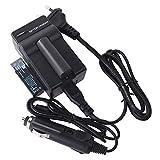 DSTE(2 unidades) Batería de repuesto NP-700 + DC58E cargador de viaje compatible con Konica Minolta DG-X50-K DG-X50-R DG-X50-S DiMAGE X50 X60 Pentax Optio Z10 Samsung L77 Sanyo Xacti VPC-A5 cámara
