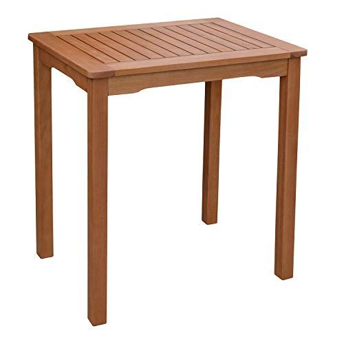 H4L Gartentisch Holztisch 70 x 50 cm Balkontisch Beistelltisch Tisch Terrasse Gartenmöbel
