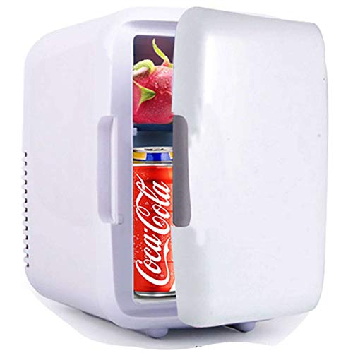 Mini Fridge, Car Portable Little Refrigerator Cools with Warmer Suitable for Dorm Office Drink Mini Bar-blue