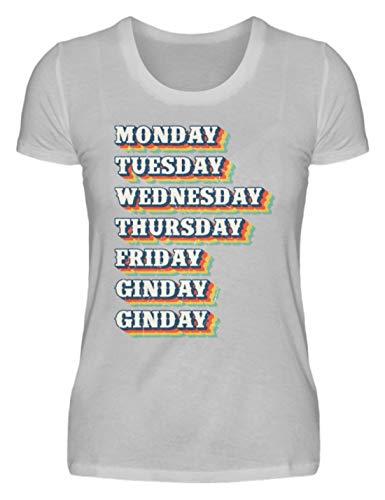 Gin Ginday - Camiseta divertida para mujer, diseño con texto 'Alkohol' Gris (mezclado). XXL