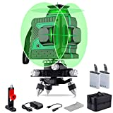 Laser Level Green 3D Green Beam Laser Lines 3 * 360 Cross Line Rechargeable 12 Lines Self Leveling Leveler Tool with Pulse Mode for Indoor & Outdoor
